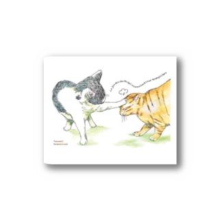 暇を持て余した猫たちの遊び Stickers