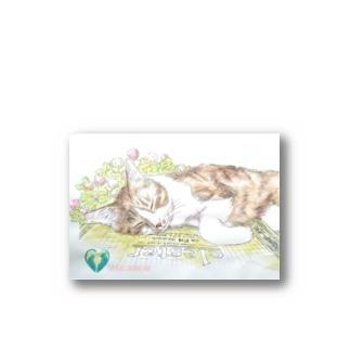 猫とスケッチブック Stickers