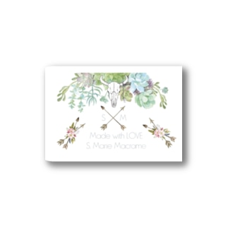 S.Marie Macrame Botanical  Stickers