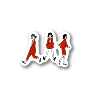 RED SET UP Stickers