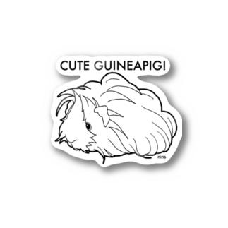 かわいいモルモット (ペルビアン) Stickers