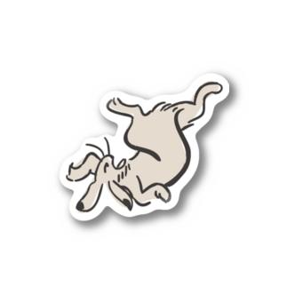 鳥獣ウサギ画 Stickers