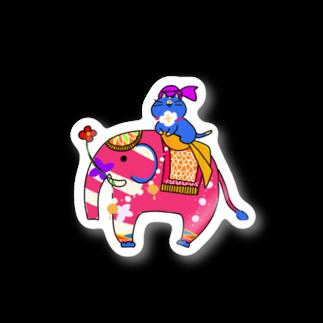 Smm🍣のインド象とニャンマー ステッカー