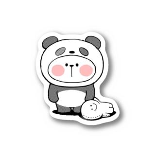 Spoiled Rabbit - Panda / あまえんぼうさちゃん - パンダ ステッカー