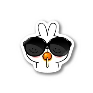 Spoiled Rabbit - Sunglass / あまえんぼうさちゃん - サングラス ステッカー