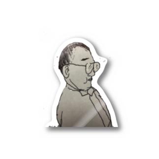 長塚の一SHOPのちびでぶはげめがね Stickers