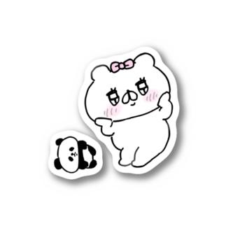 クマ子とパンダちゃんのステッカー Stickers