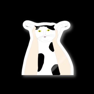 cosajisalutの高い高い猫ステッカー