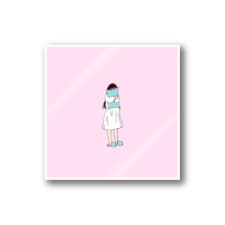 shy girl 1 Stickers