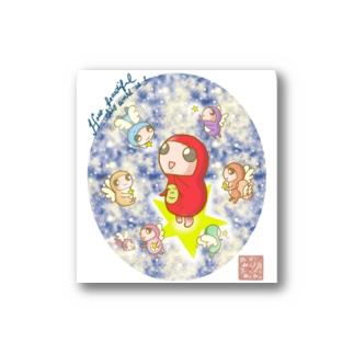 だるまちゃんと天使 in universe Stickers