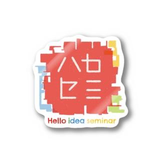oreteki design shopのハロセミロゴステッカー Stickers