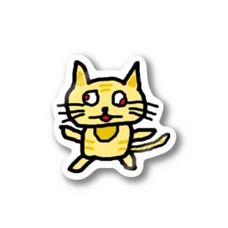 ねこかすシールぺたぺた Stickers
