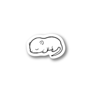 white mouse Stickers