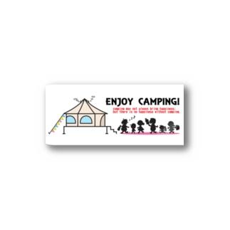エンジョイキャンプステッカー Stickers