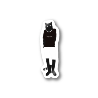 Cats wearing rain boots Stickers