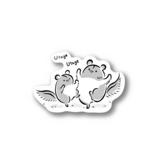 ももんがもん(墨)~宴の舞~ Stickers