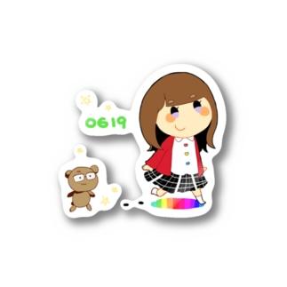 かわいいあの子とくま沢さん Stickers