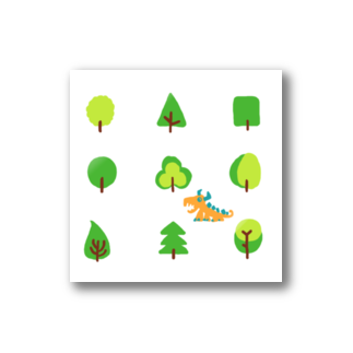 zentoyのwoods and dragon Stickers