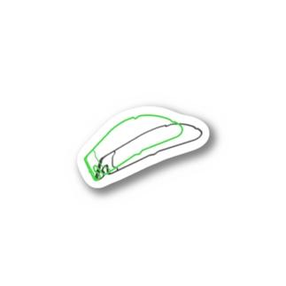 緑のトンネル Stickers