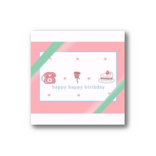 バースデーカード Stickers