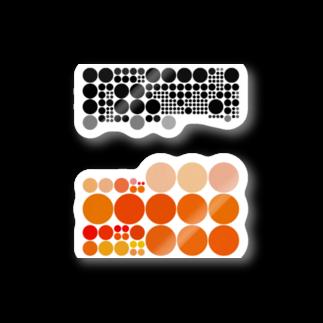 クレヨン君とえんぴつ君の水玉シリーズ39 Stickers