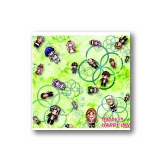 ハッピーイン・ドットキャラ(クローバー) Stickers