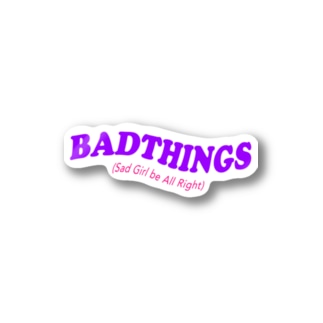 BADTHINGS LOGO GOODS Stickers
