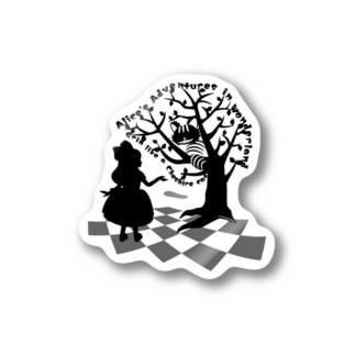 不思議の国のアリス【チェシャ猫】シルエット Stickers