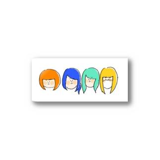 ねこぢた~カラフルver~ Stickers