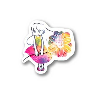 春の宇宙に住む少女 Stickers