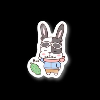 cheluseeのフレンチブルドッグ・パイド Stickers