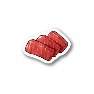 クロマグロ 刺身 Stickers