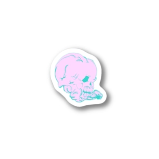 pinkな髑髏 Stickers