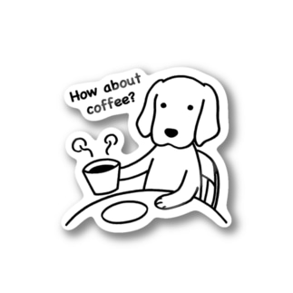 how about coffee ステッカー
