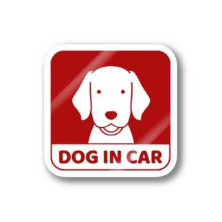 車窓レッド Stickers