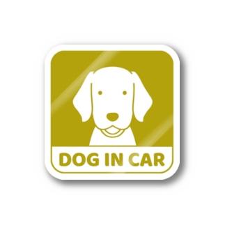車窓イエロー Stickers
