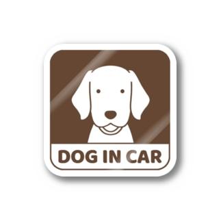 車窓ブラウン Stickers