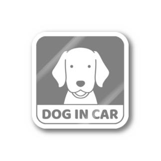 車窓グレー Stickers