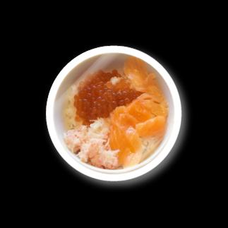 baikoの鮭いくらカニ丼 Stickers