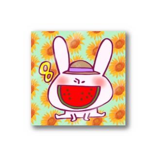8月のうさぎ  Stickers