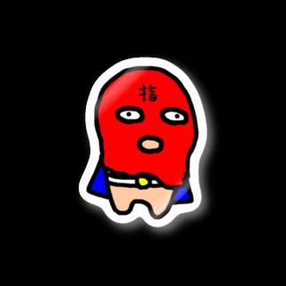 MORPHEUS&もんぺのフィンガーマン  (レッド) Stickers
