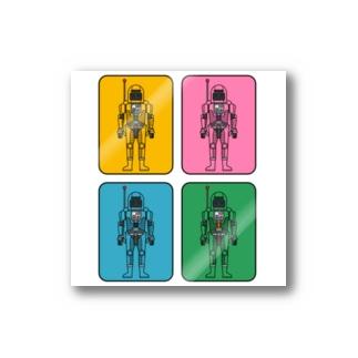 宇宙服の4人 Stickers