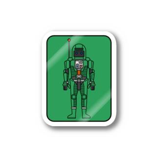 緑い宇宙飛行士 Stickers