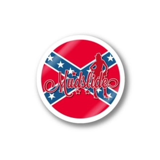 MUDSLIDE dixie flag Stickers