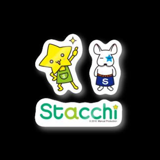 株式会社マニュアルプロダクションの星野さんとブル Stickers