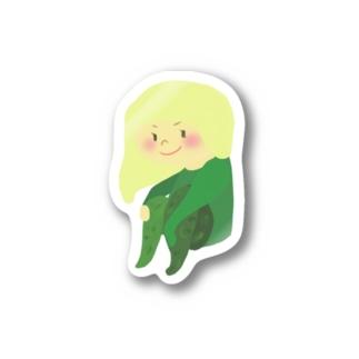 キューカンバー・ガール Stickers