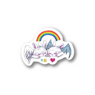 sweet bunnies Stickers