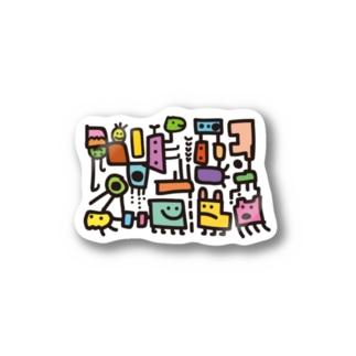 カタチたち(カラフル) Stickers