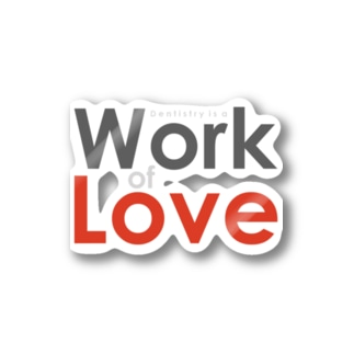 Work of LOVE Stickers
