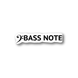 BASS NOTE Stickers